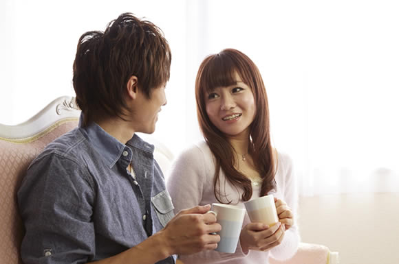 コーヒーカップカップル