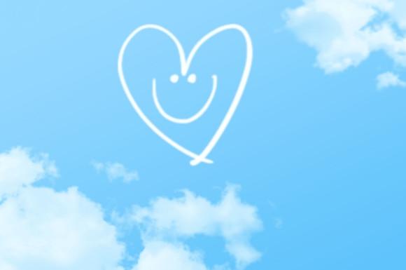 ハートの笑顔
