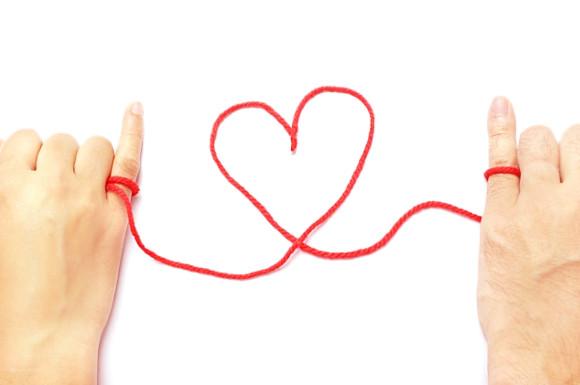 ハートの赤い糸